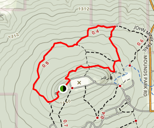 Blue Mound State Park Loop Trail Map
