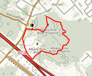 Albany Pine Bush Preserve: Karner Barrens East Trail Map