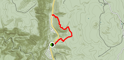 Harding Springs Trail to Cookstove Trail Map