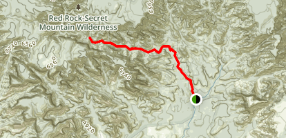 Secret Canyon Trail Map