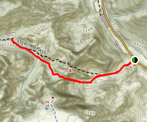 Sterling Pass Trail Map
