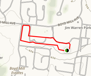 Jim Warren Park Trail Map