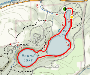 Green Lake to Round Lake Trail Map