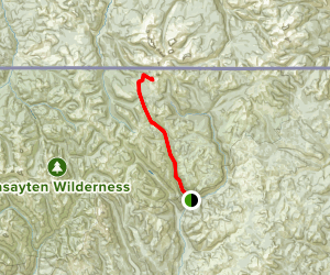 Andrews Creek Trail to Cathedral Lakes Map