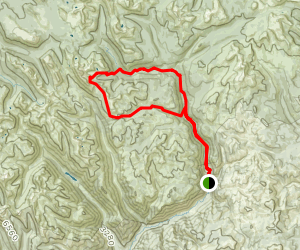 Chewuch River Trail to Four Point Lake Map