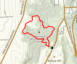 Baltimore Woods Nature Center: Boundary Trail Map