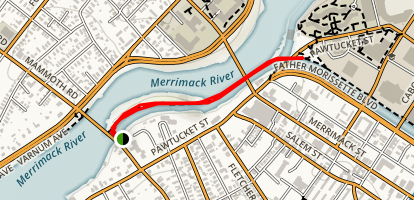 Lowell National Historical Park - Northern Canal Walkway Map