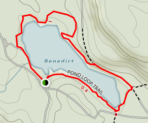 Benedict Pond Loop Trail Map