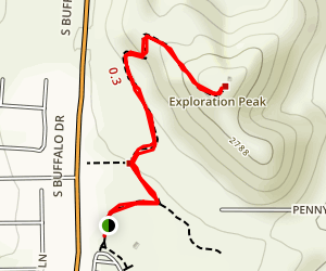 Exploration Peak Trail Map