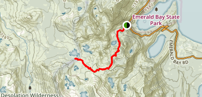 Middle Velma Lake Trail Map