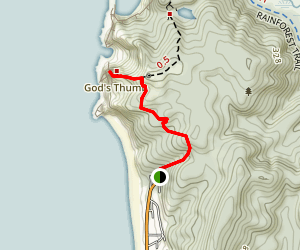 God's Thumb Trail Map