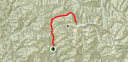North Fork Trinity River to Grizzly Lake Map