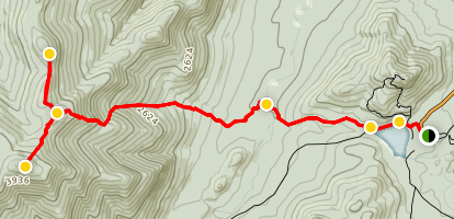 Street Mountain and Nye Mountain Trail Map