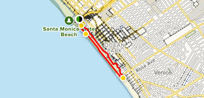 Santa Monica Pier, Boardwalk, and Beach Trail - California ... on palm springs map, ventura ca on a map, beverly hills map, culver city map, bel air map, detroit map, castaic lake campground map, raymond chandler map, anaheim map, burbank map, long beach map, west hollywood map, torrance transit map, la county map, cuenca-ecuador google map, philadelphia map, redondo beach map, venice beach ca map, santiago de cali colombia map, los angeles map,