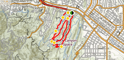 Red Rock Canyon Trails Map