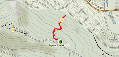 Albany Downhill Trail Map