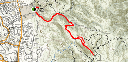 Ohlone College to Mission Peak Trail Map