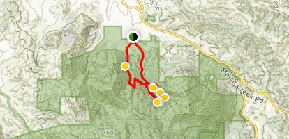 Waterfalls of Mount Diablo Loop Trail Map