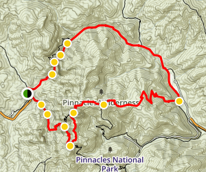 High Peaks & Balconies Cave Loop Trail Map