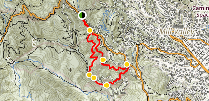 Muir Woods and Tourist Club Loop from Mountain Home Inn Map
