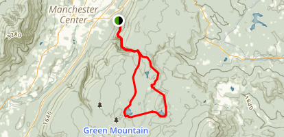 Bourn Pond and Stratton Pond via Long Trail Map