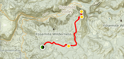 Badger Pass to Glacier Point Trail Map