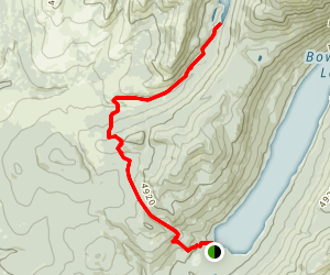 Akokala Lake Trail Map