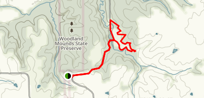 Woodland Mounds Preserve Trail Map