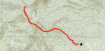 Gearhart Mountain Trail Map