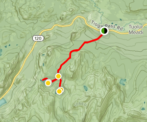Cathedral Lakes Trail Map