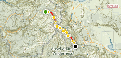 John Muir Trail: Tuolumne to Reds Meadow Map