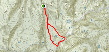 Middle Boulder and Telephone Lakes Loop Map