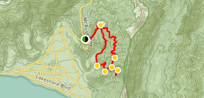 Diamond Peak via North Flume Trail Map