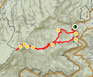 Daniel Boone Scout Trail to Calloway Peak Map