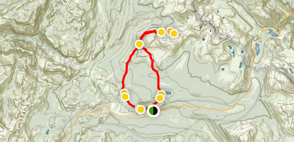 Young Lakes Trail Loop Map