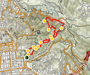Panoramic Hill - Chaparral Peak - Strawberry Canyon Loop Map
