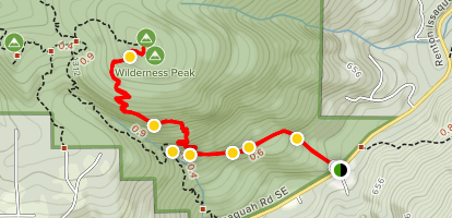 Wilderness Cliffs Trail via Squak Mountain Connector Trail Map