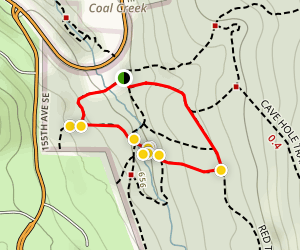 Rainbow Town and Red Town Loop Trail Map