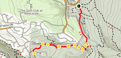 Marshall's Hill Trail Map