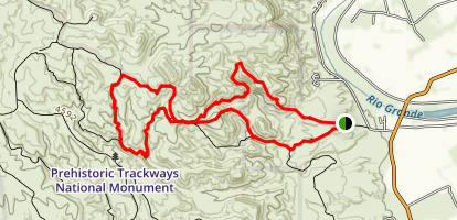 Robledo Mountain Prehistoric Trackways Trail Map