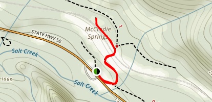 McCredie Hot Springs Map