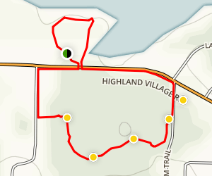 Highland Village Wichita Forest trail Map