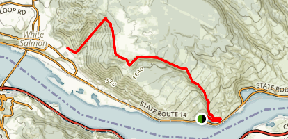 Syncline Ridge Run Map