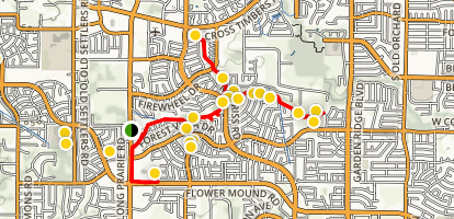 Trails of Flower Mound Map