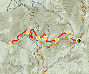 Mount Spokane Trail 100 to Smith Gap Map