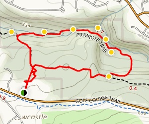 Primrose Trail via Coal Creek Trail Map