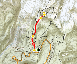 Paradise Inn to Panorama Point-Snow Hike Map