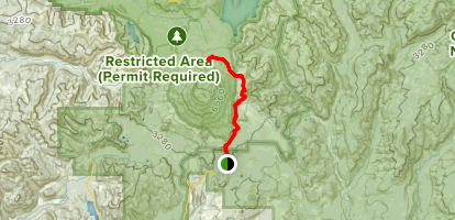 June Lake Trail to Loowit Falls Map