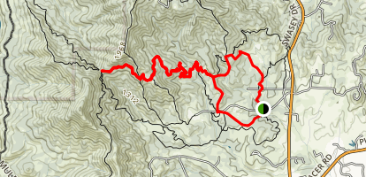 Escalator Trail and Meiner's Loop Map