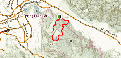 Central Annadel Loop Trail Map